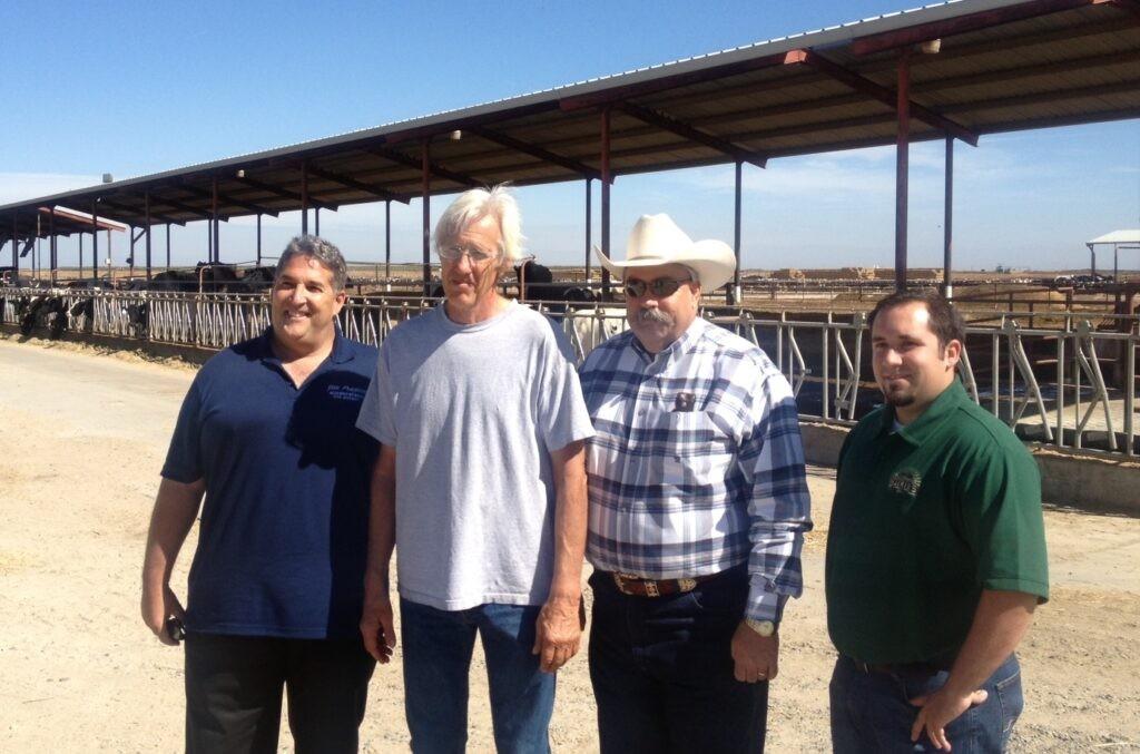From L-R: Assemblyman Frazier, dairyman Bob LaSalle, Assemblyman Bigelow & Darrin Monteiro with CDI
