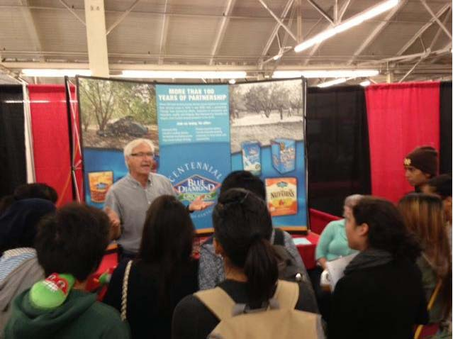 Rob Kiss with Blue Diamond Growers speaks with Bay Area students.