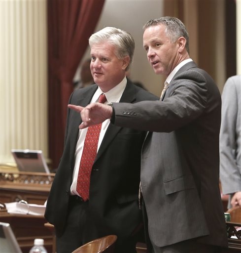 Senator Andy Vidak (left) and Senator Anthony Cannella (right)-photo by Rich Pedroncelli and published by AP.