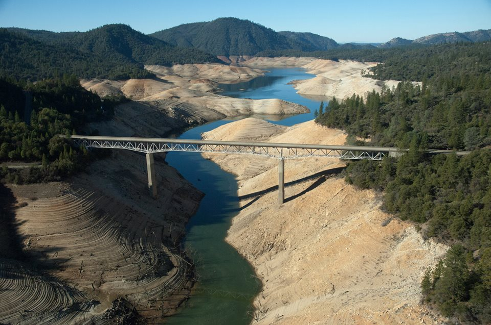 Lake Oroville - Jan. 2014 - Photo by the California Department of Water Resources.