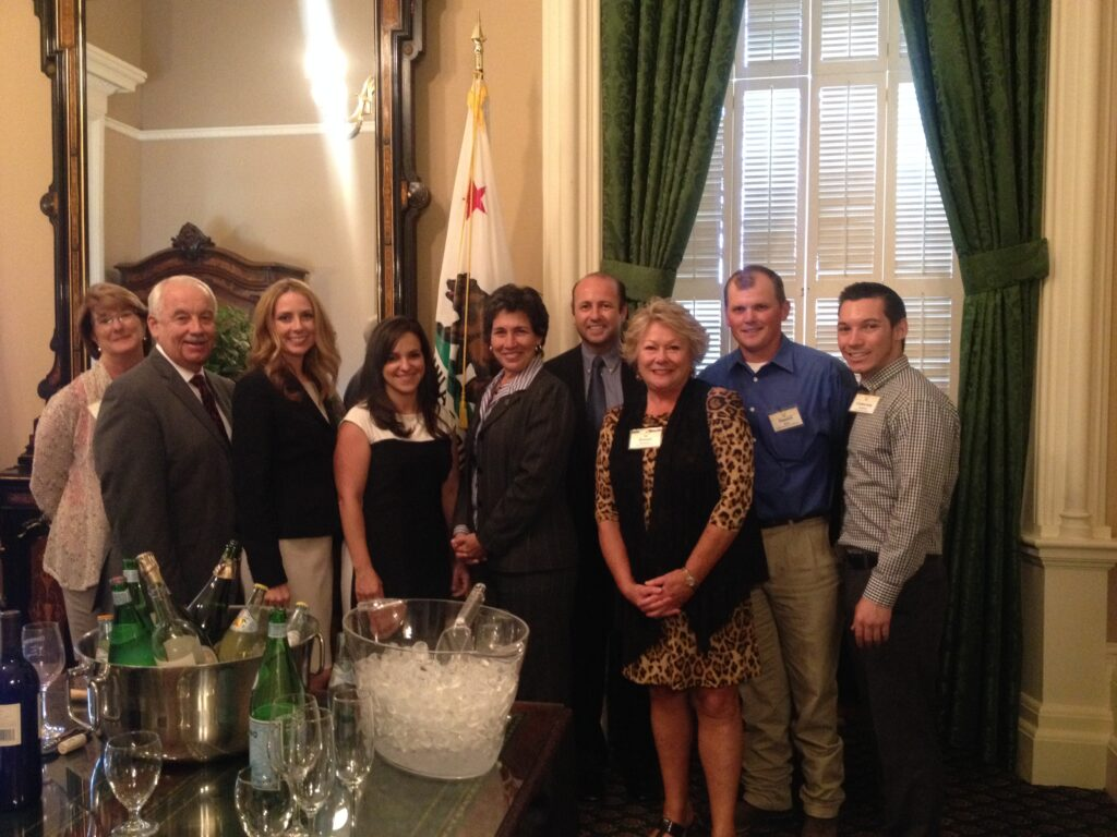 Assembly Agriculture Committee Chair Susan Eggman (5th from left) with Legislative Day attendees.