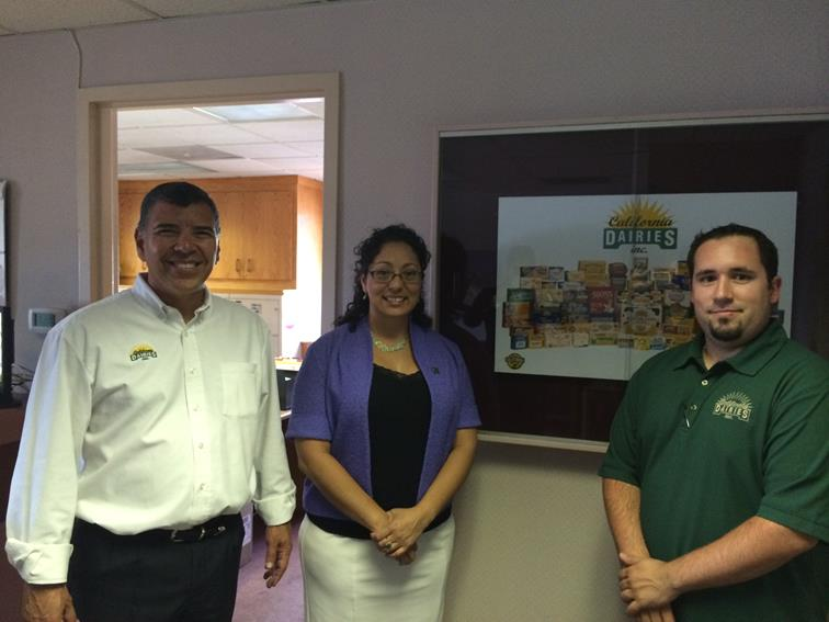 From L-R: Rico Hinojosa with CDI, Assemblymember Cristina Garcia and Darrin Monteiro with CDI.