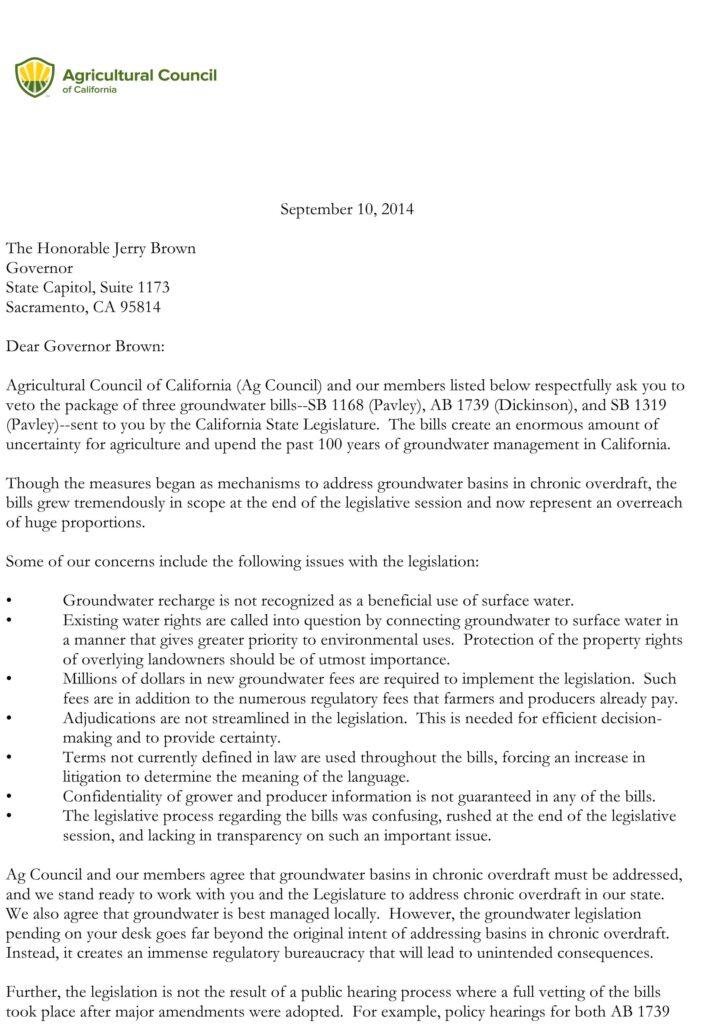 Microsoft Word - Groundwater_VETOLetter_Sept2014.docx