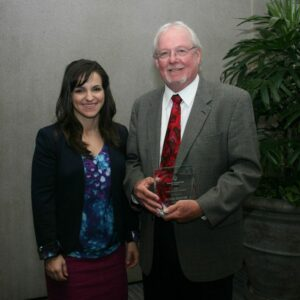 Ag Council President, Emily Rooney (left) and 2015 California Cultivator Award recipient Mike Emigh (right)