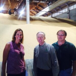 Asm. Jacqui Irwin (D-Thousand Oaks) visits BUCRA's facilities with Pres. & CEO Carl Hoff and VP of Drying/Storage Steve Birdsong
